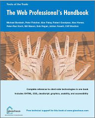 Cover of The Web Professional's Handbook