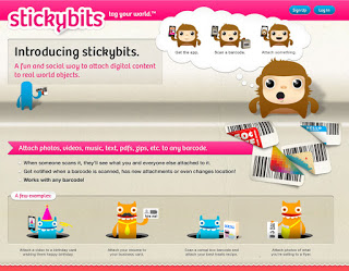 Screen capture of StickyBits web site, click for bigger image.