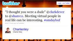 Awkward tweet.