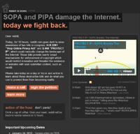 Reddit's SOPA/PIPA protest page.
