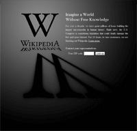 Wikipedia's SOPA/PIPA protest page.