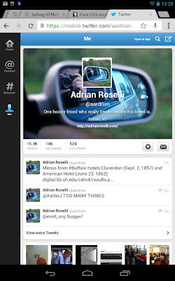 Screen capture of new Twitter header on mobile browser (Chrome on Nexus 7).