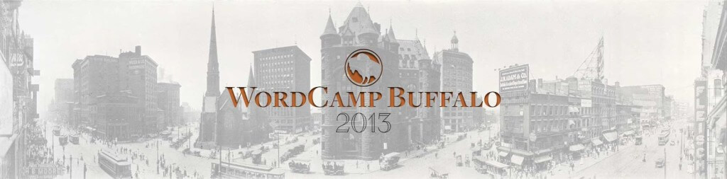 Official 2013 WordCamp Buffalo banner.