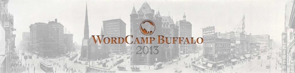 Official 2013 WordCamp Buffalo banner.