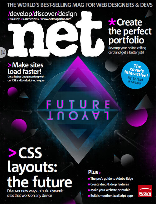 Net Magazine, Issue 231, Summer 2012, Cover