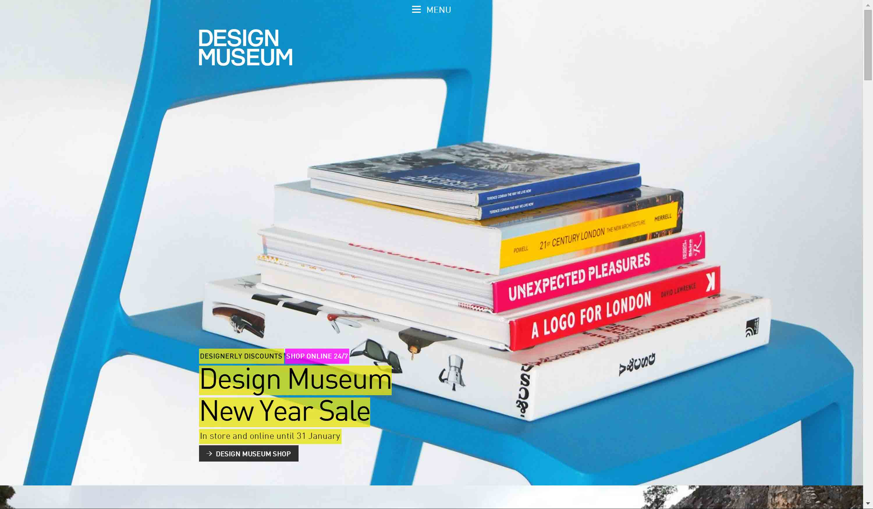 Design Museum home page.