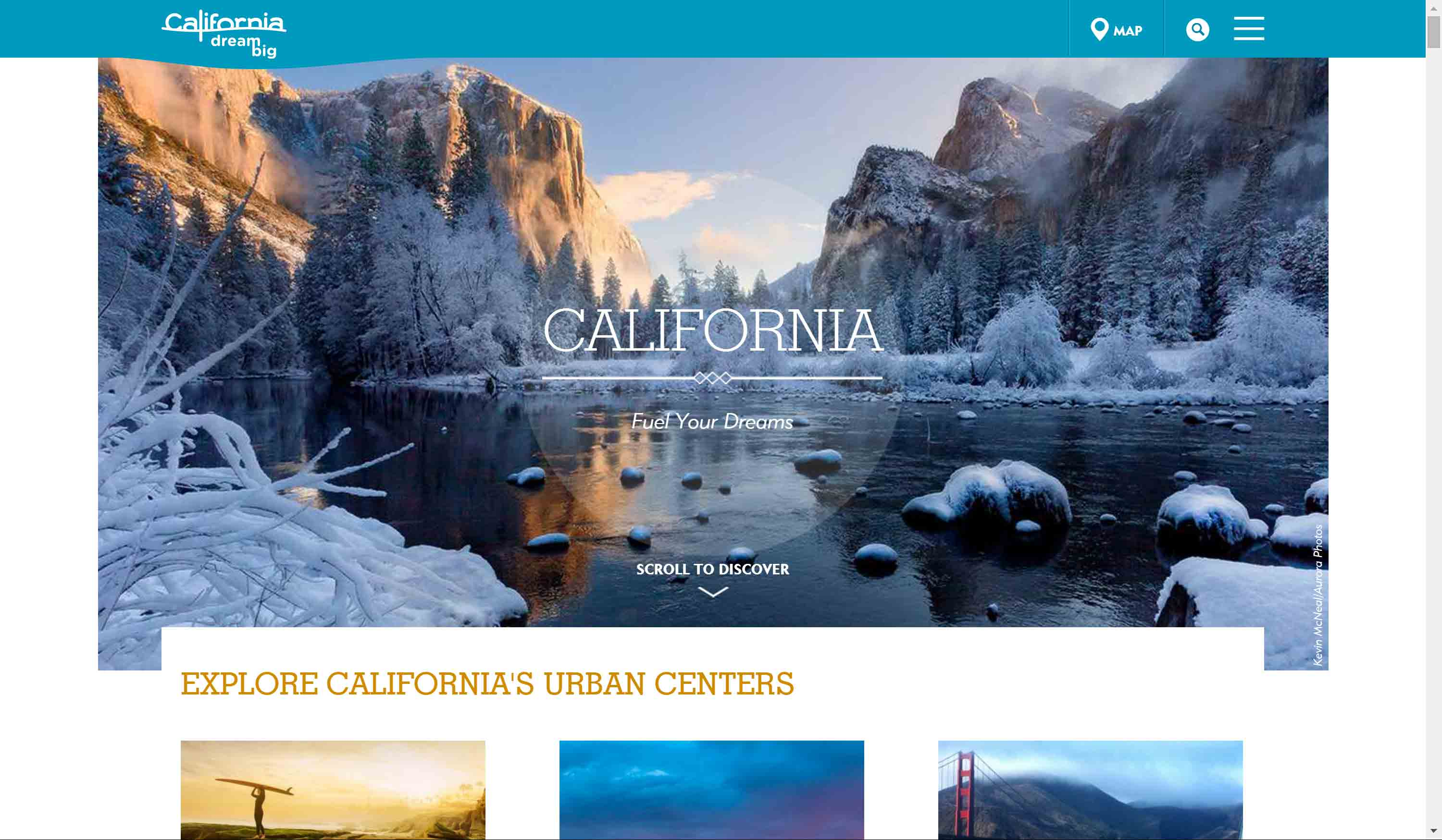 Visit California home page.