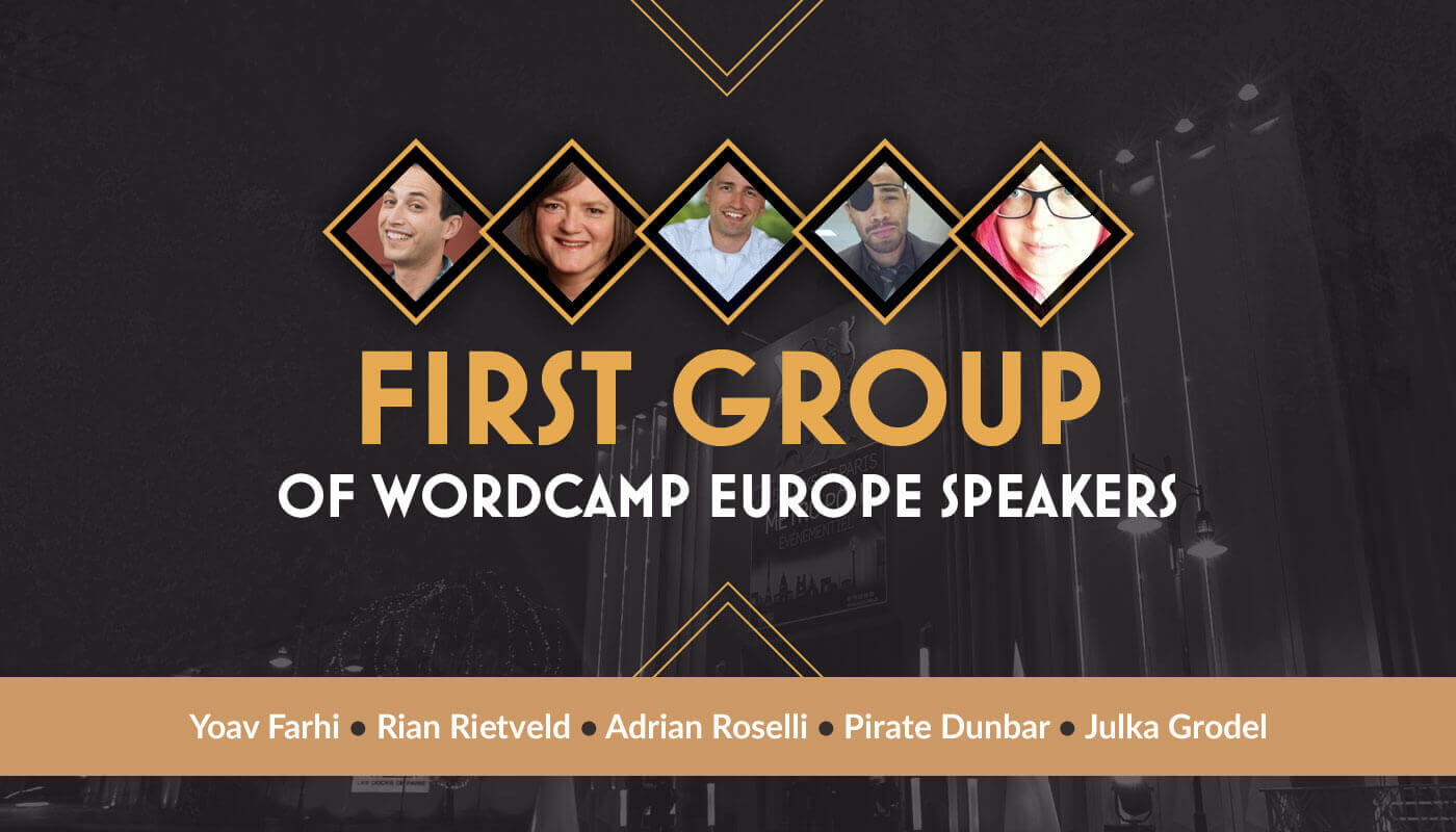 First group of WordCamp Europe speakers announced.