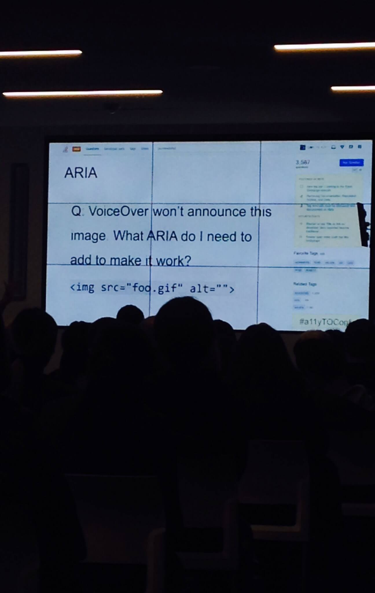 A question from Stack Overflow asking what ARIA to use for Voiceover when alt is right there
