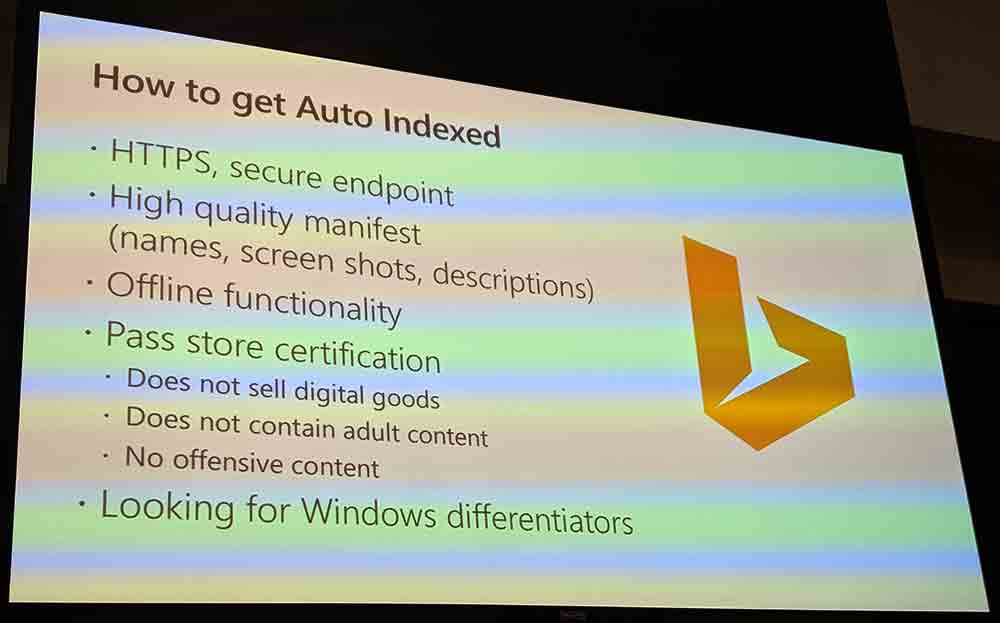 Slide outlining how to get auto-indexed.