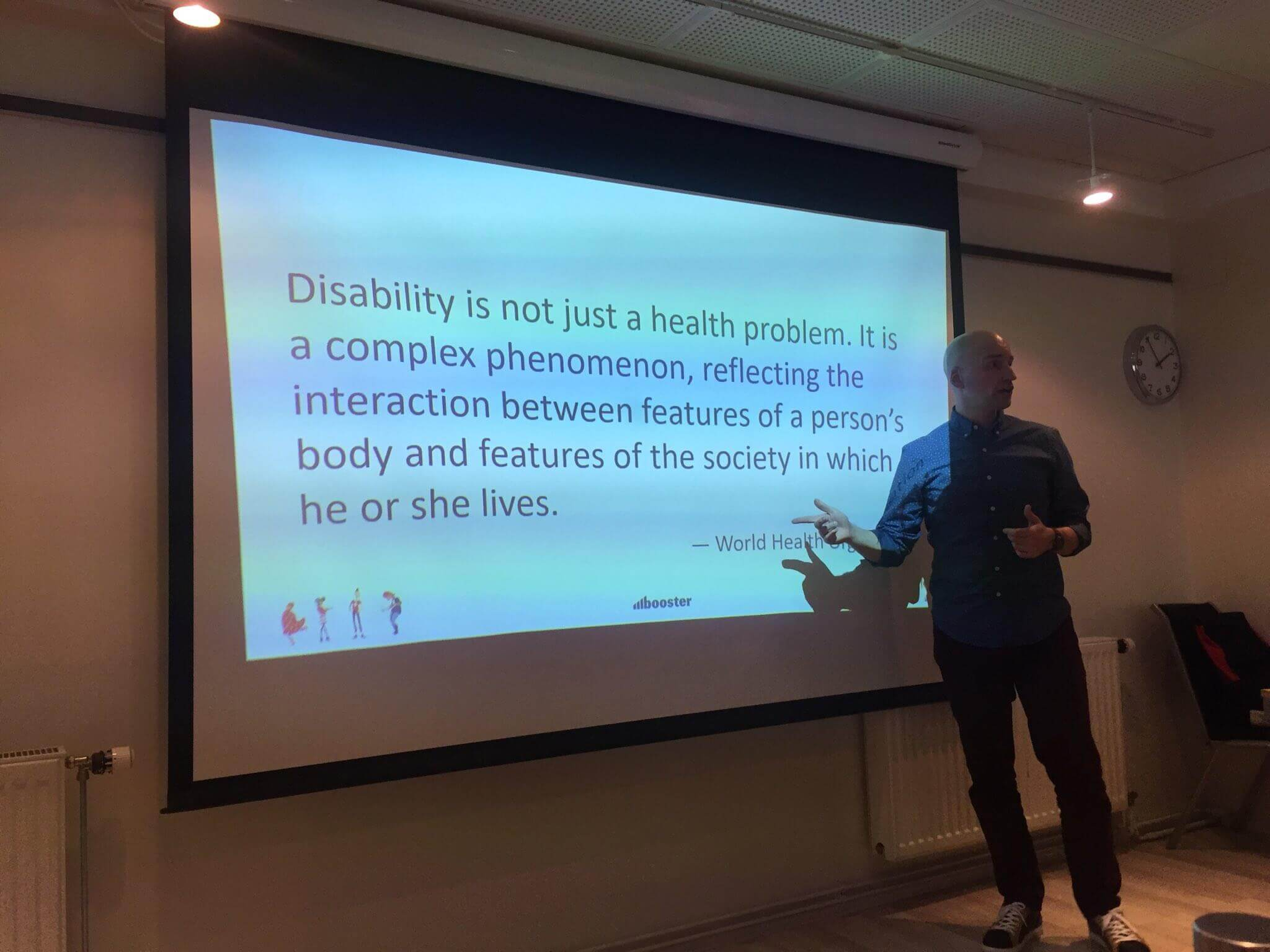 Disability is not just a health problem. It is a complex phenomenon, reflecting the interaction between features of a person's body and features of the society in which he or she lives.