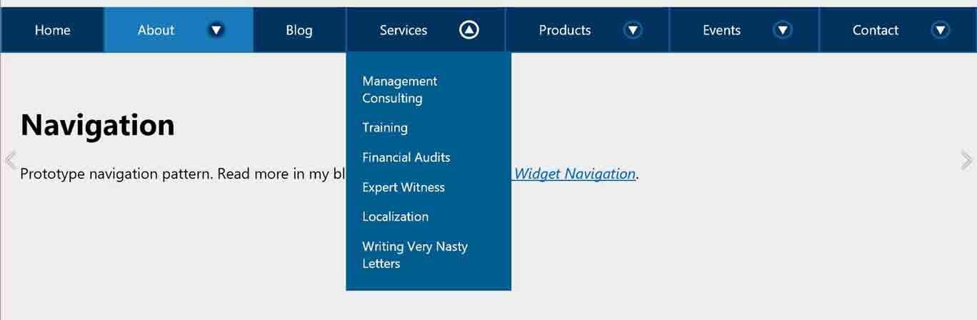 Link + Disclosure Widget Navigation   Adrian Roselli