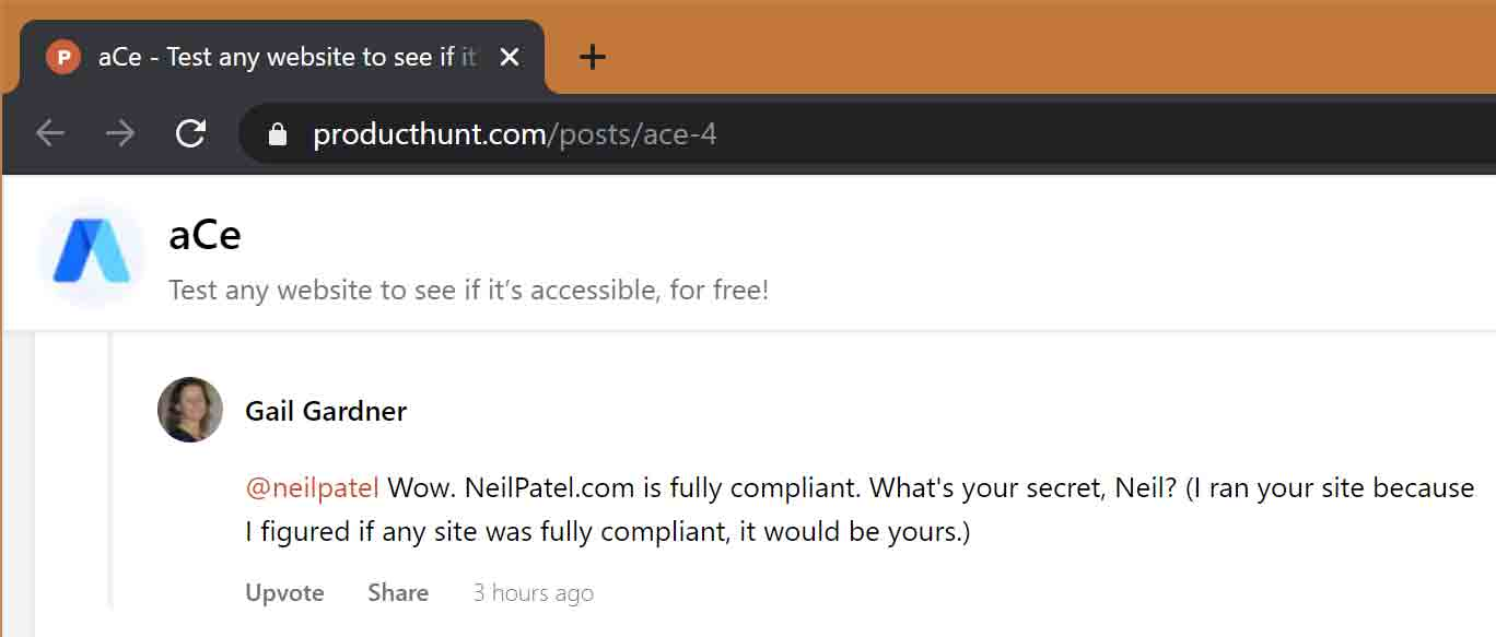 @neilpatel Wow. NeilPatel.com is fully compliant. What's your secret, Neil? (I ran your site because I figured if any site was fully compliant, it would be yours.)
